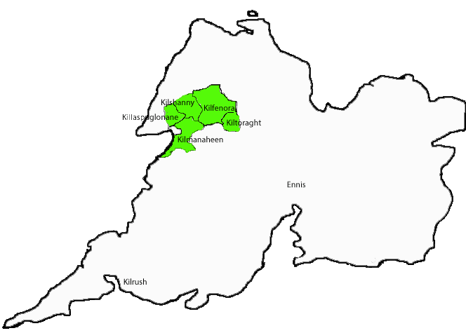Map of Clare